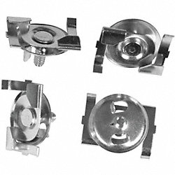 Ceiling Tile Mounting Clips, 1 In, Pk 4