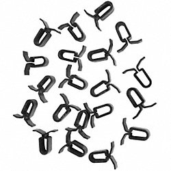 Ceiling Tile Clips, Plastic, 1 In, Pk 20