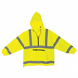 Packable Pullover, Hi-Vis, Lrg, Yellow