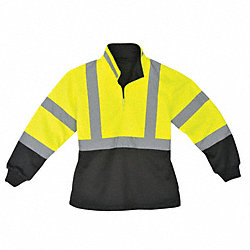 Ladies Pullover, Hi-Vis, XL, Lime/Blk