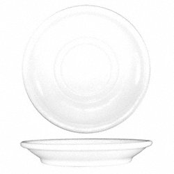 Saucer, 5-1/2 In. Dia, European Wht, PK 36