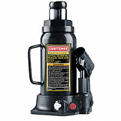 Bottle Jack, Hydraulic, 12 Tons
