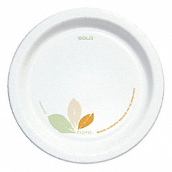 Paper Plate, 8-1/2 Inch, Clay Coated, PK250