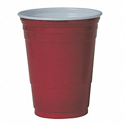 Cold Cup, 16 Oz, Plastic, Red, PK 1000