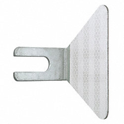 Gaurdrail Reflector, Two-Sided, White