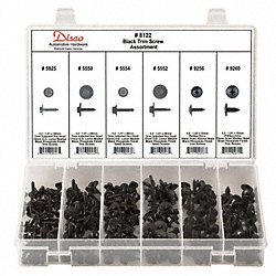 Black Trim Screw Assortment, 210 Pc