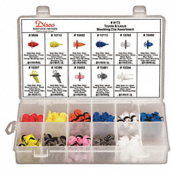 Moulding Clip Assortment, 154 Pc