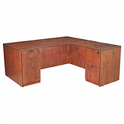 Office Desk, L-Shape, Legacy, 71W, Cherry