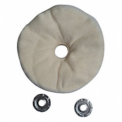 Buffing Wheel, Loose Sewn, 4 In Dia.