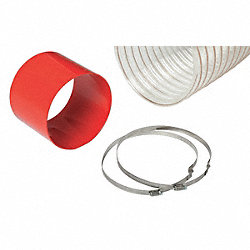 Steel Flex Hose Ext. Kit, 8 In. x 7 Ft.