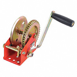 Ratcheting Winch, Spur, No Brake, 1100 lb.