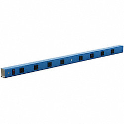 Power Strip, 42 W x 4 D x 2 in. H, Blue