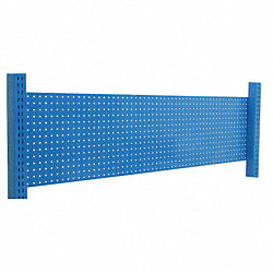 Pegboard Backwall, 72 W x 2 D x 14 H, Blue