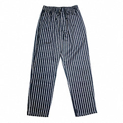 Chef Pants, EZ Fit, Men, Blk/Wht, XL