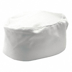 Chef Hat, Pillbox, White, Reg