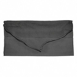 Waist Apron, 3 Pocket, Black