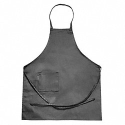 Bib Apron, Full Length, Side Pocket, Black