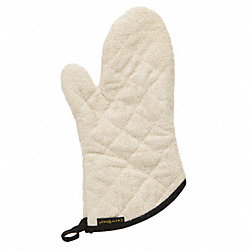 Conventional Oven Mitt, Terry, 13 In, PR