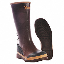 Boots, Plain Toe, 16In, Rubber, 12, PR