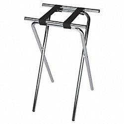 Deluxe Steel Tray Stand, Walnut, Pk 6