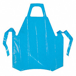 Die Cut Apron, Blue, 45 In. L, PK 50