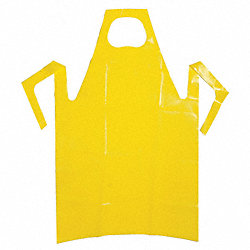 Die Cut Apron, Yellow, 55 In. L, PK 50