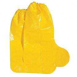 Boot Covers, L, Yellow, PK 100