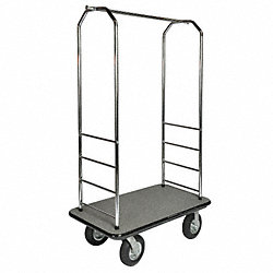Bellman Cart, Chrome, Green Carpet