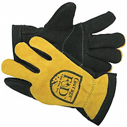 Firefighters Gloves, 2XL, Goathide Lthr, PR
