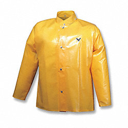 Rain Jacket with Hood Snaps, Gold, M