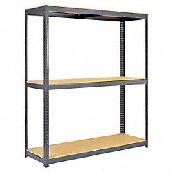 Boltless Shelving Starter, 96x24, 3 Shelf