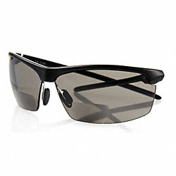 Safety Bifocal, +1.0, Smoke, Polycarbonate