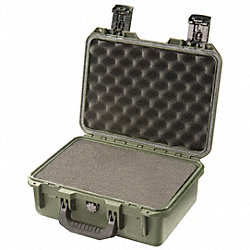 Protector Case w/Foam, 0.42 cu. ft, OD Grn