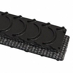 Conveyor Belt, PVC 120 LT, Black, W 14 In
