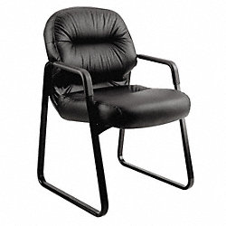 Guest Chair, Black Leather
