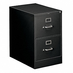 Vertical File, 18-1/4 In.W, Black