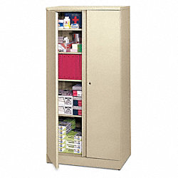 Storage Cabinet, 5-Shelf, 72 H, Putty
