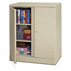 Storage Cabinet, 3-Shelf, 43 H, Putty
