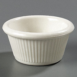 Fluted Ramekin, 2 oz., Bone, PK 48