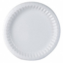 Paper Plates, 8-5/8, Coated, White, PK500