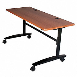 Table, Mobile, Flip Top, 60x24, Black Cherry