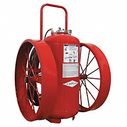 Wheeled Fire Extinguisher, 300 lb, 50 ft