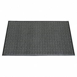Entrance Mat, Indoor, 3 x 5 Ft, Gray