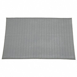 Anti-Fatigue Mat, Vinyl, 3 x 5 Ft, Gray