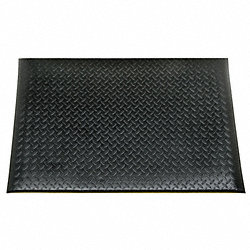 Anti-Fatigue Mat, Vinyl, 3x5Ft, Black