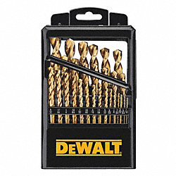 COBALT DRILL BIT SET, 1/16-1/2 In., 29 PC