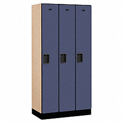 Assembled Locker, 1 Tier, 36x18x76, Blue