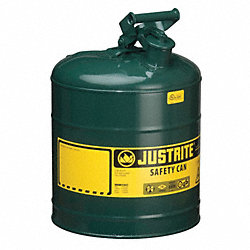 Type I Safety Can, 5 gal, Green, 16-7/8In H