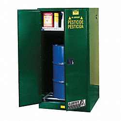 Safety Cabinet, Pesticide, 55 gal, Gray