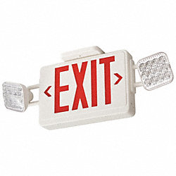 Exit Sign w/Emergency Lights, 3.8W, Red